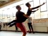 Jade Hale-Christofi and Sarah Kundi rehearse Orpheus