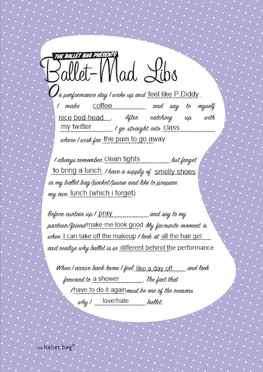 Dylan James Ward's Mad Libs