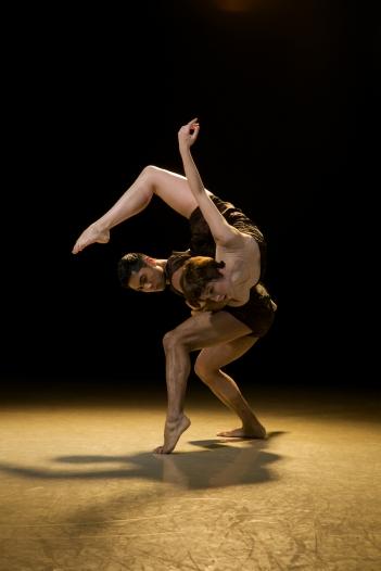 Artists of Rambert Dance Company in Tim Rushton's Monolith. Photo: Chris Nash / Rambert Dance Company ©
