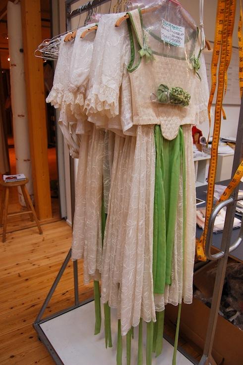 Costume rack backstage
