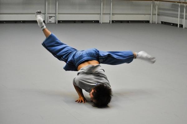 Tommy Franzen in rehearsal © The Ballet Bag