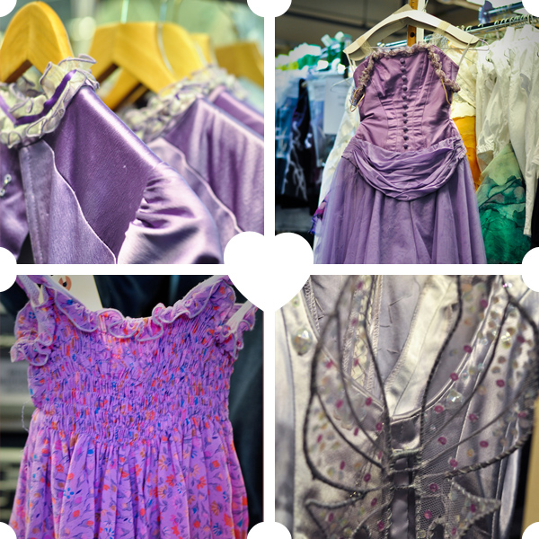 Details of various Alice costumes