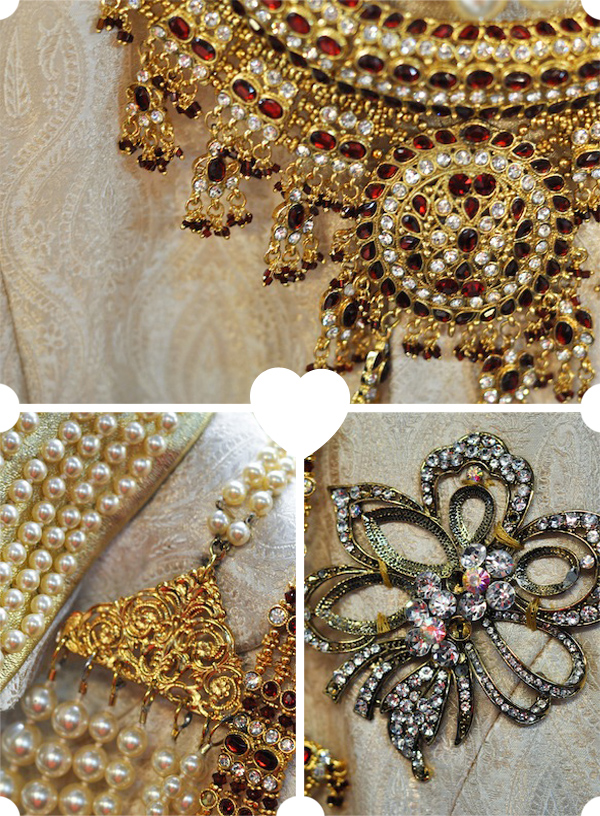 Details of the Rajah's costume