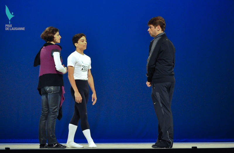 Patrick Armand coaching at the Prix de Lausanne 2012