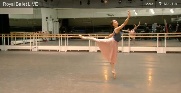 Marianela rehearses Prince of the Pagodas