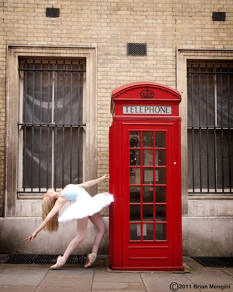 Ballerina and Telephone Cabin