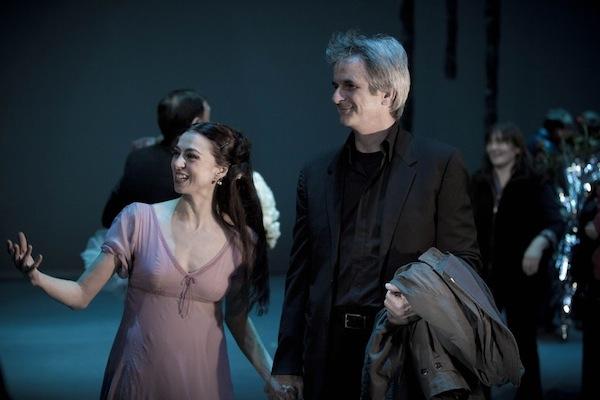 Nina Ananiashvili and ABT Artistic Director Kevin McKenzie Backstage