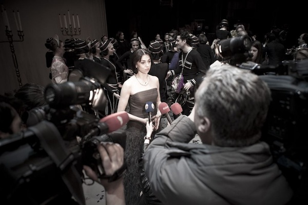 Nina Ananiashvili after the gala