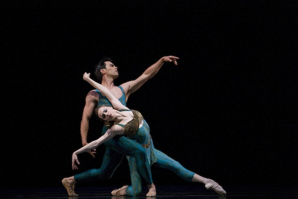 Maria Kochetkova and Joan Boada in Wheeldon's Within The Golden Hour