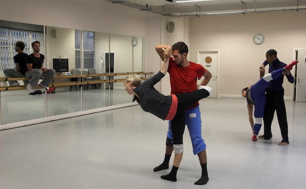 Alex and dancers in rehearsal