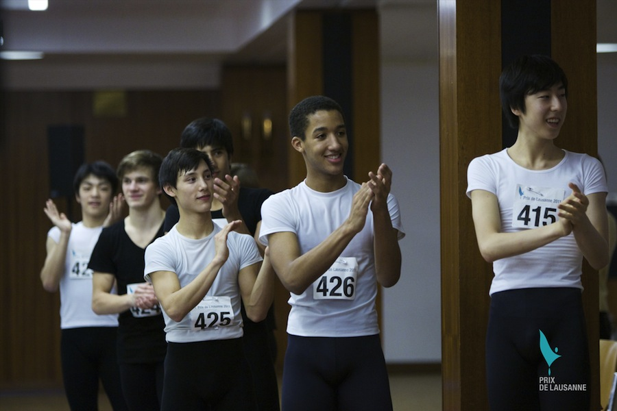 Harper Watters attends boys class at the Prix de Lausanne 2011