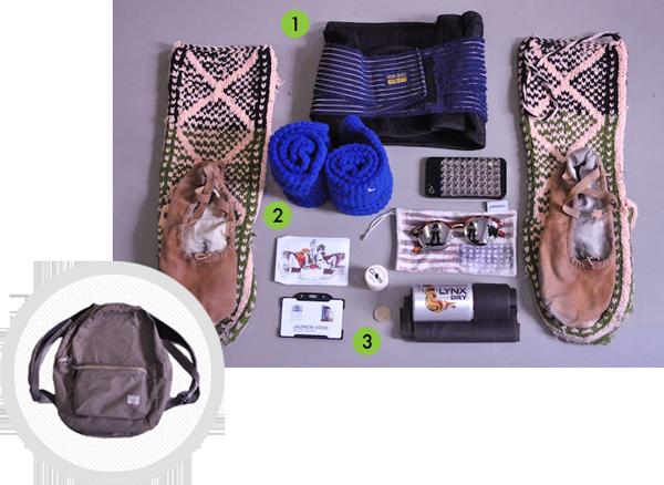 Jazmon's bag contents