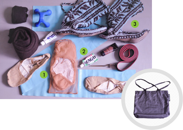 Joseph's bag contents