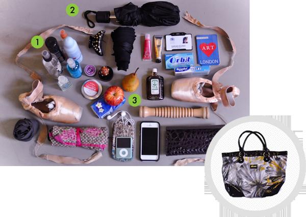Sarah's bag contents