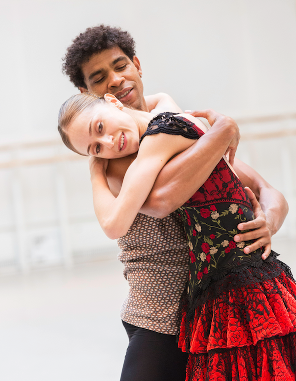 Marianela Nuñez and Carlos Acosta in rehearsal for Don Quixote