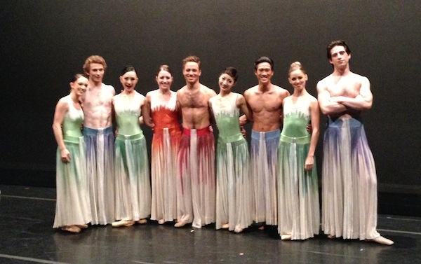 Dancers after a performance of Mark Morris's Pacific