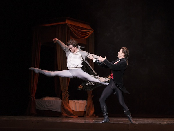 Alban Lendorf as Des Grieux and Benjamin Buza as Lescaut