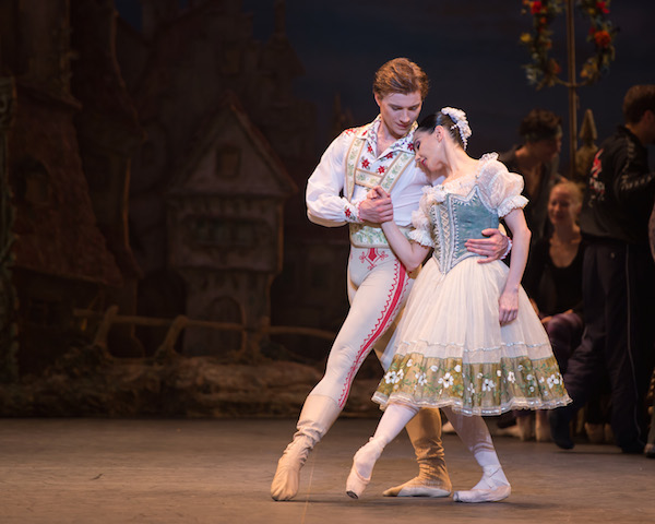 Alban Lendorf as Franz and Tamara Rojo as Swanilda in English National Ballet's Coppélia. Photo: © ASH
