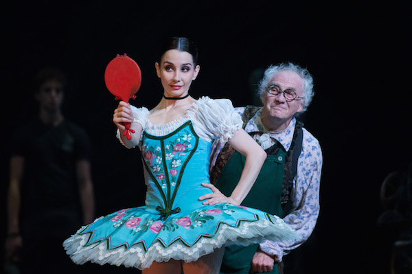 Tamara Rojo as Swanilda and Michael Coleman as Dr. Coppelius  in English National Ballet's Coppélia. Photo: © ASH