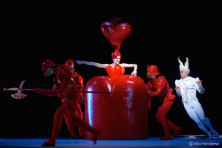 Zenaida Yanowsky as the Queen of Hearts, Ricardo Cervera as the White Rabbit and Artists of The Royal Ballet.