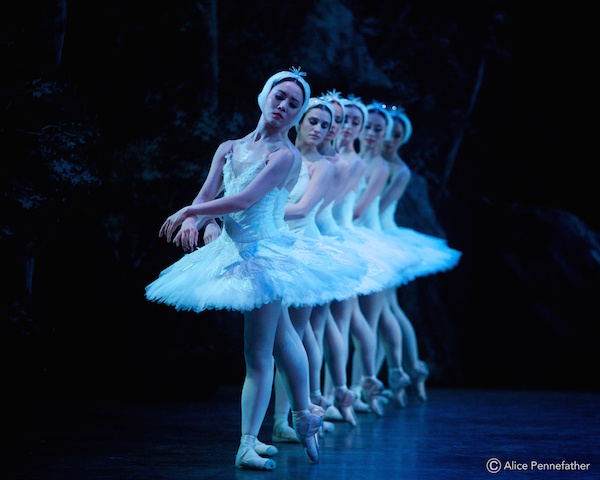 Artists of English National Ballet in Swan Lake.