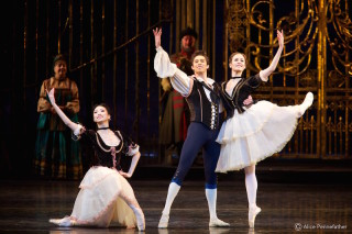Akane Takada, Emma Maguire and James Hay in the Act I Pas de Trois