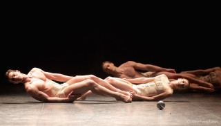 James Forbat, Adela Ramírez and Max Westwell in Kylián's Petite Mort