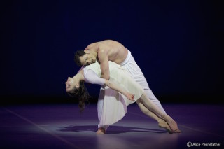 Alina Cojocaru and Alejandro Virelles in John Neumeier's Spring and Fall.