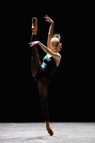 Laurretta Summerscales in Forsythe's In the Middle Somewhat Elevated.