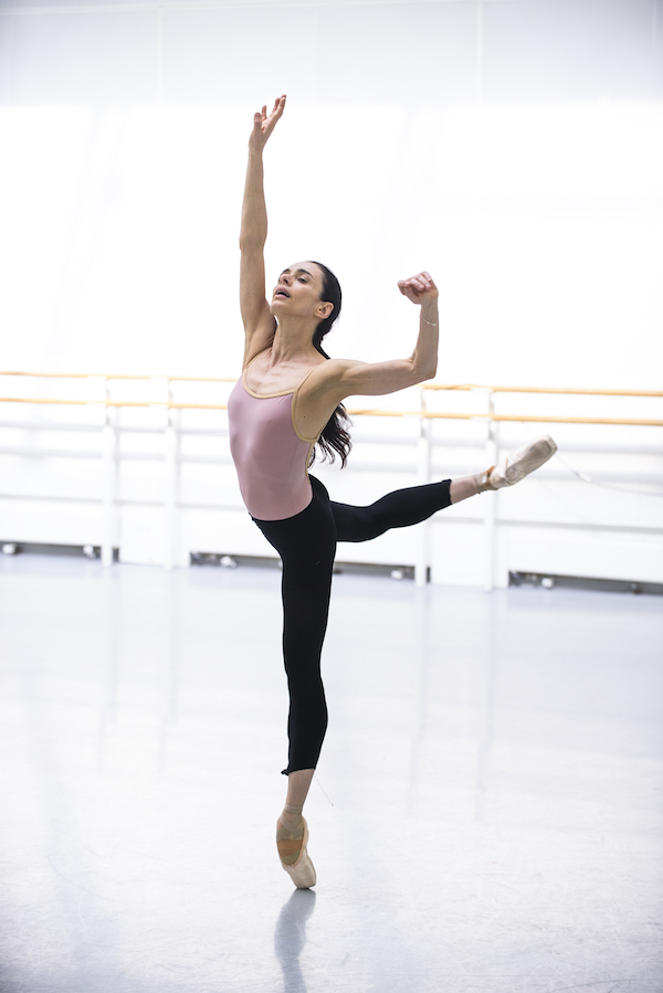 Alessandra in rehearsal for Woolf Works. Photo: © Tristram Kenton