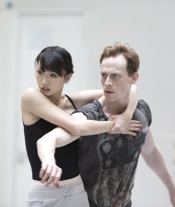 Ed Watson and Akane Takada in rehearsal for Woolf Works