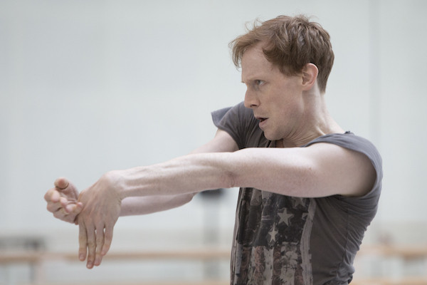 Ed Watson in rehearsal for Woolf Works