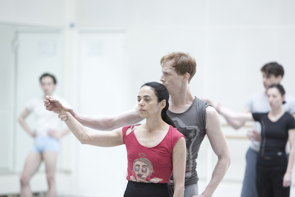 Alessandra Ferri and Ed Watson in rehearsal for Woolf Works