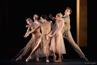 Alessandra Ferri, Beatrix Stix-Brunell, Francesca Hayward, Federico Bonneli and Gary Avis in I Now, I Then