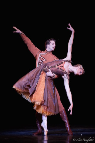 Zenaida Yanowsky and Nehemiah Kish in Robbins' In the Night