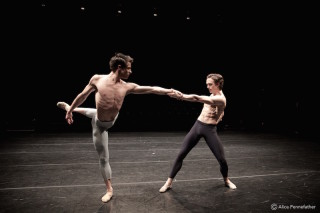 Matthew Ball and Nicol Edmonds in Josh Beamish's Burrow. Photo: © Alice Pennefather