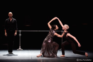 Diana Vishneva, Bernice Coppieters and Gaetan Morlotti in Jean-Christophe Maillot's Switch.