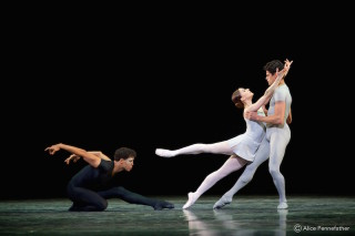 Carlos Acosta, Marianela Núñez and Thiago Soares in A Song of the Earth