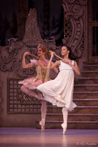 Francesca Hayward As Clara and Mayara Magri in The Nutcracker