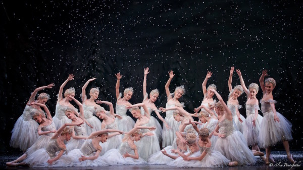 Artists of The Royal Ballet as Snowflakes