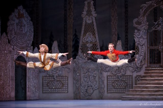 Alexander Campbell as the Nephew and James Hay in the Russian dance.