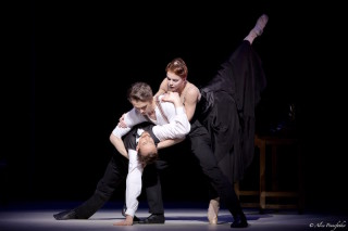 Natalia Osipova, Matthew Ball and Edward Watson in Wheeldon's Strapless