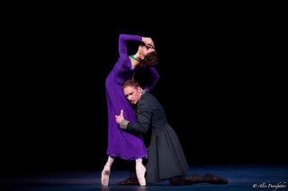 Marianela Núñez as Hermione and Bennet Gartside as Leontes in Wheeldon's The Winter's Tale