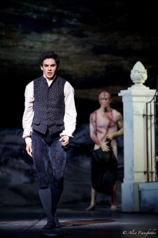 Federico Bonelli as Victor Frankenstein and Steven McRae as the Creature