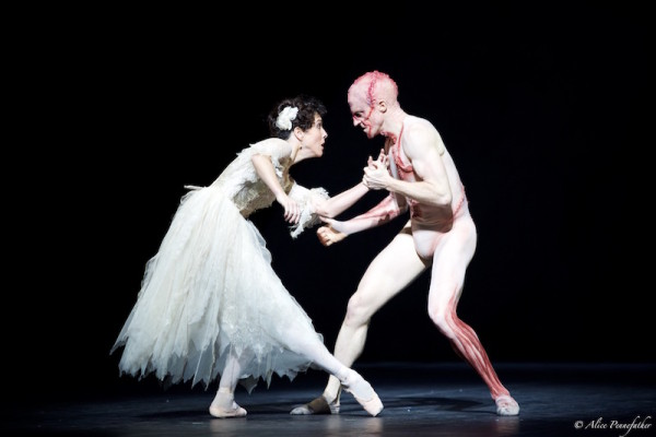 Steven McRae as the Creature and Laura Morera as Elizabeth