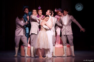 Ty King-Wall as the Prince, Amber Scott as Cinderella and Artists of the Australian Ballet.