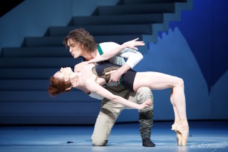Ekaterina Krysanova as Katharina and Vladislav Lantratov as Petruchio