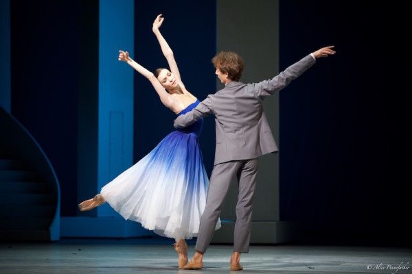 Olga Smirnova as Bianca and Semyon Chudin as Hortensio.