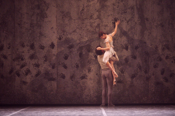 Alina Cojocaru as Giselle and Isaac Hernández as Albrecht in Akram Khan's Giselle