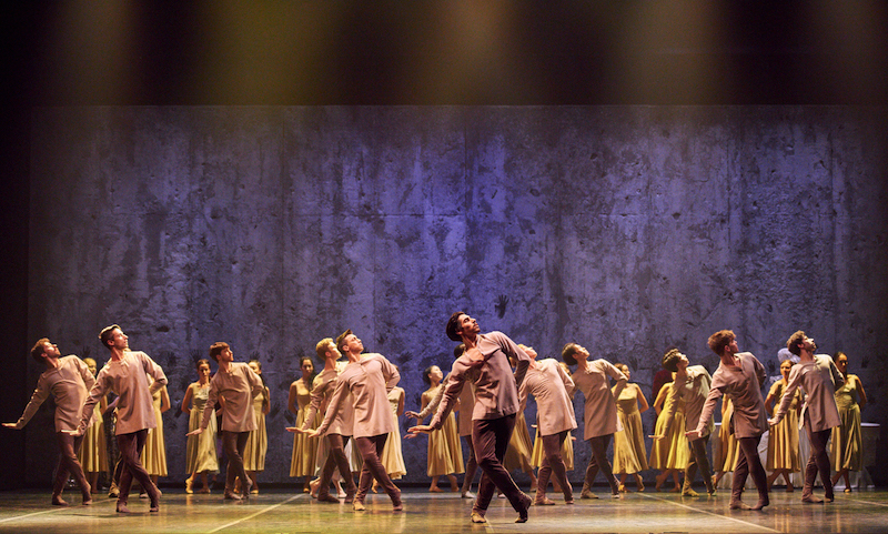César Corrales as Hilarion and Artists of English National Ballet in Akram Khan's Giselle